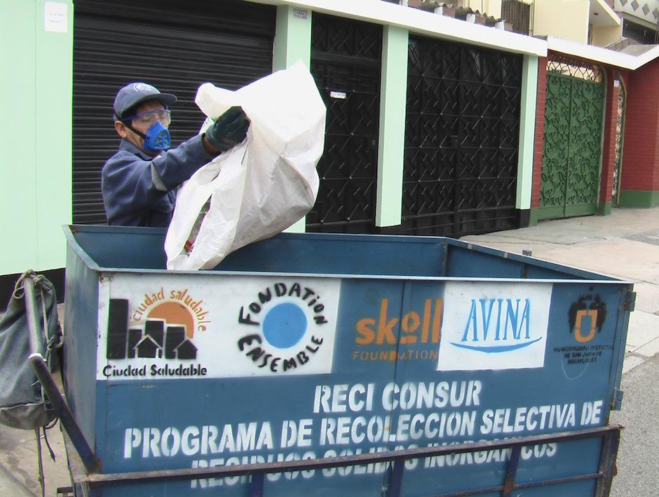 Reciclador de San Juan de Miraflores